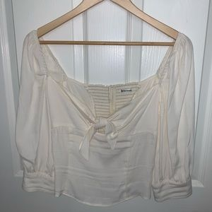 NWOT Reformation Ivory Top Size 6